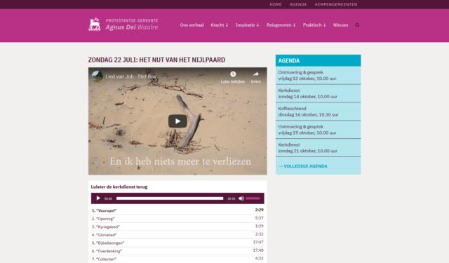 Nieuwe website Agnus Dei Waalre